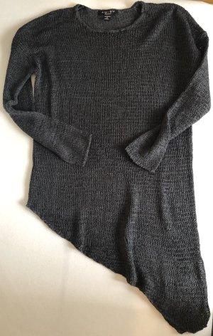 Amisu Sweter z dekoltem w kształcie litery V antracyt