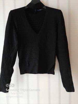 Zara Gebreid shirt zwart
