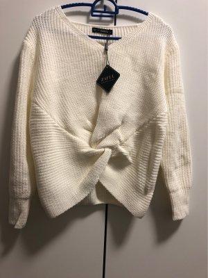 Zaful Knitted Sweater white