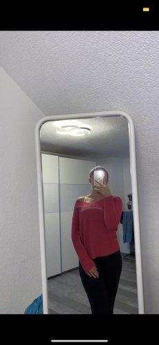 Bonita Maglione lavorato a maglia rosso lampone