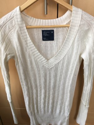 American Eagle Outfitters Long Sweater white