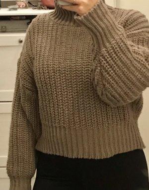 H&M Sweter z grubej dzianiny beżowy