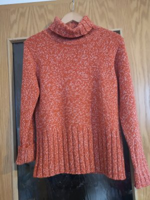 Michele Boyard Crochet Sweater white-dark orange