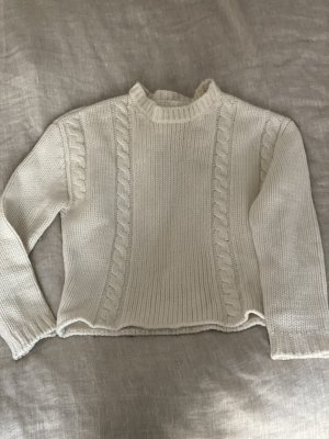Anine Bing Coarse Knitted Sweater natural white