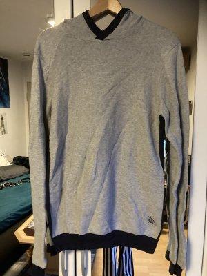 Camp David Fine Knit Jumper light grey-dark blue