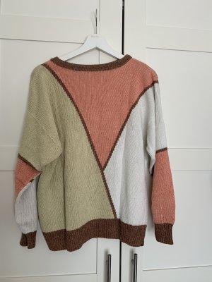 Selbst gemacht Pullover a maglia grossa multicolore