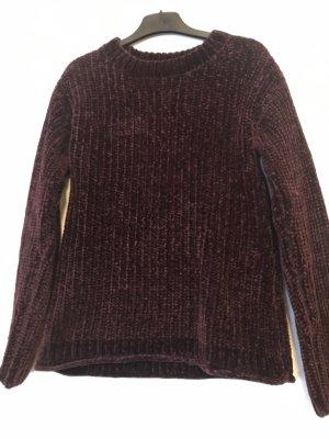 C&A Szydełkowany sweter brązowo-fioletowy-czerwona jeżyna Poliester