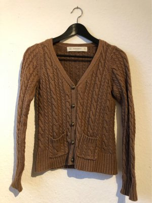 Zara Knit Cardigan bronze-colored-brown