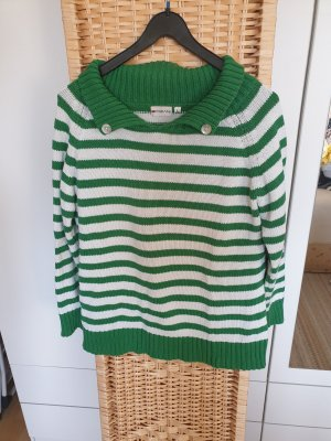 Chic Fabiani Knitted Sweater white-green