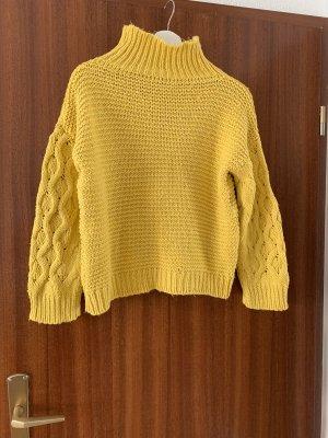 Hailys Maglione lavorato a maglia giallo