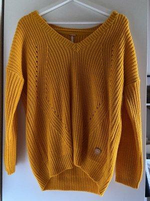 AIKI KEYLOOK Maglione lavorato a maglia arancione