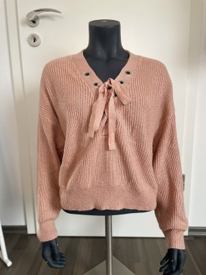 H&M Divided Knitted Sweater salmon-bright red