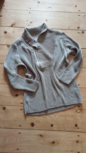Bon Prix Sweter z dzianiny beżowy-camel