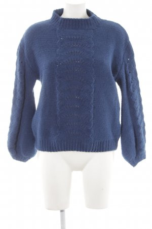 Strickpullover blau Casual-Look