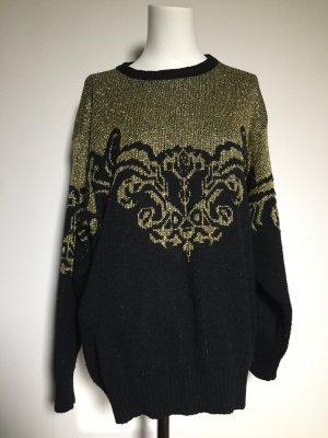 Vintage Oversized Sweater gold-colored-black