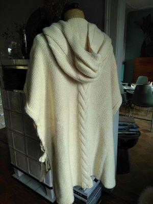 Pull kimono blanc cassé-beige clair polyester