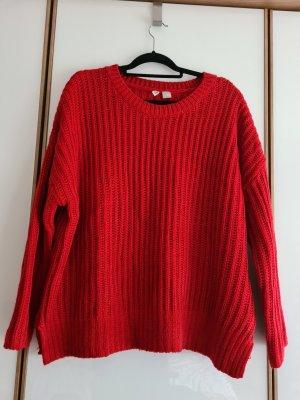 H&M Pullover a maglia grossa rosso mattone