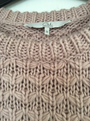 Clockhouse Coarse Knitted Sweater rose-gold-coloured