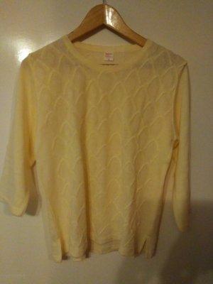 Jersey trenzado amarillo claro