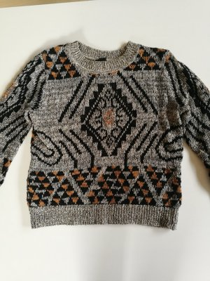 H&M Sweter z dzianiny czarny-szary