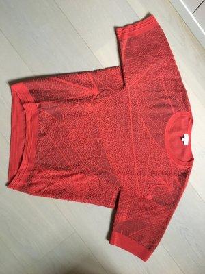 Escada Long Sweater bright red wool