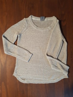 Vero Moda Crochet Sweater oatmeal