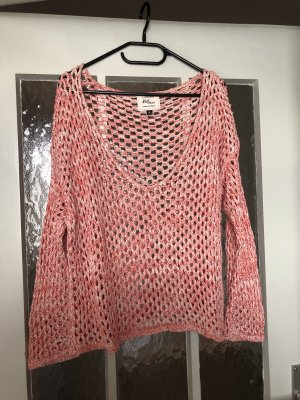 Cotton On Coarse Knitted Sweater natural white-bright red