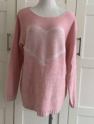 Jersey de punto grueso rosa-rosa claro
