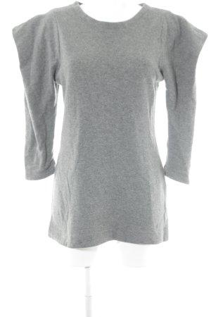 Pull tricoté gris style décontracté