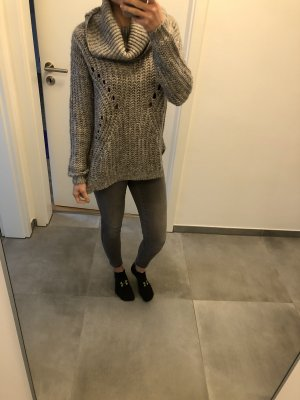Strickpullover grau Review Mode Blogger Fashion xs s 34 36