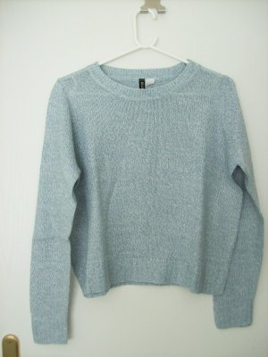 H&M Divided Oversized Sweater light blue-white