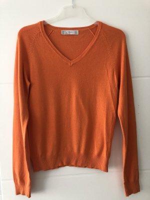 Strickpullover in orange Gr. M