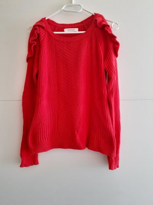 Strickpullover in rot mit Cut-outs an Schulter - Promod