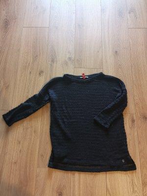 Strickpullover in schwarz von QS - Gr. S