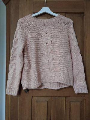 Clockhouse Sweter z grubej dzianiny brzoskwiniowy-łosowiowy