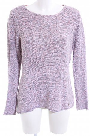 Strickpullover lila Zopfmuster Casual-Look