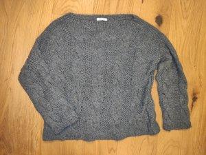 Lindsay Moda Oversized Sweater grey-dark grey