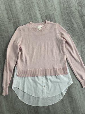 Strickpullover mit Bluse