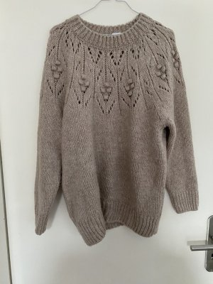 Mango Coarse Knitted Sweater beige