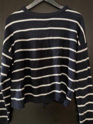Brave Soul Maglione lavorato a maglia bianco-blu scuro