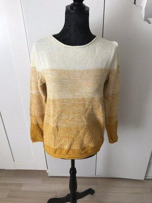 Cecil Maglione lavorato a maglia giallo-bianco sporco