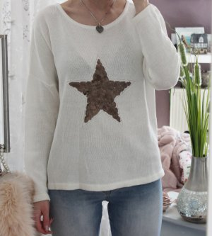 b.c. Knitted Sweater white-gold-colored
