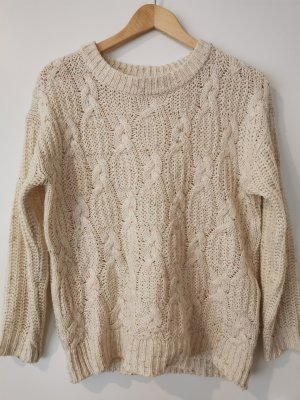 Cable Sweater natural white-cream