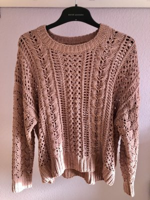 yfl RESERVED Pullover all'uncinetto color oro rosa