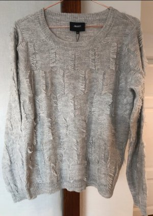 Object Jersey de punto color plata tejido mezclado