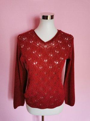 Hennes Collection by H&M Pull tricoté rouge foncé