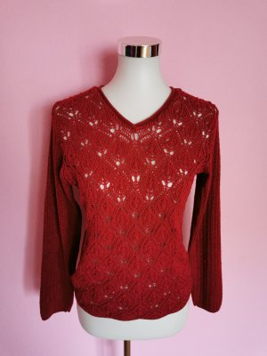 Strickpullover rot Casual-Look (K3)