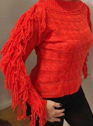 Jersey de punto grueso rojo