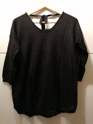 Blue Motion Sweter z dzianiny czarny