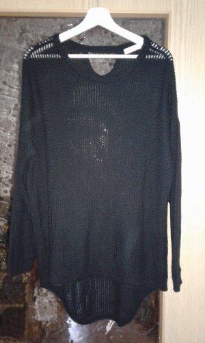 Aniston Pull à gosses mailles noir